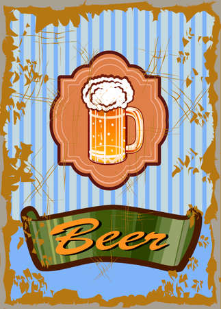 topic with beer Illustration