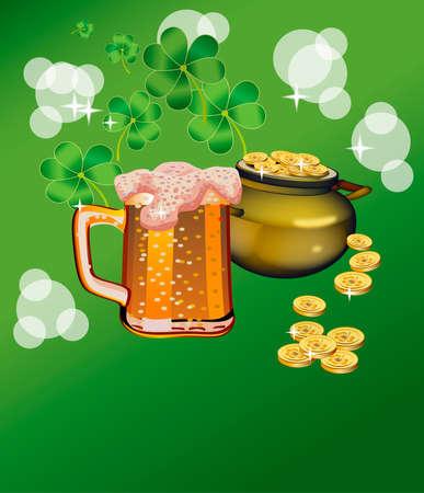 St. Patricks Day - vector greeting card