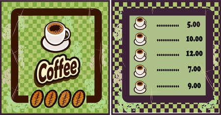 coffee shop illustration design elements vintage vector.