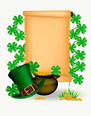 st patrick s day: St. Patrick s Day - vector greeting card
