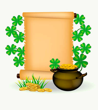 st patrick s day: vector postcard advertising holiday St. Patrick s Day