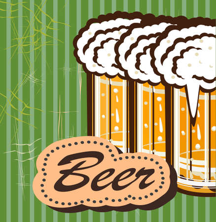 alcoholic beverage: vector illustration of a beer label, or any other alcoholic beverage Illustration