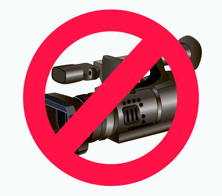 vector illustration of a ban on video and photos