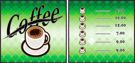 Coffee shop illustration design elements vintage vector Illustration