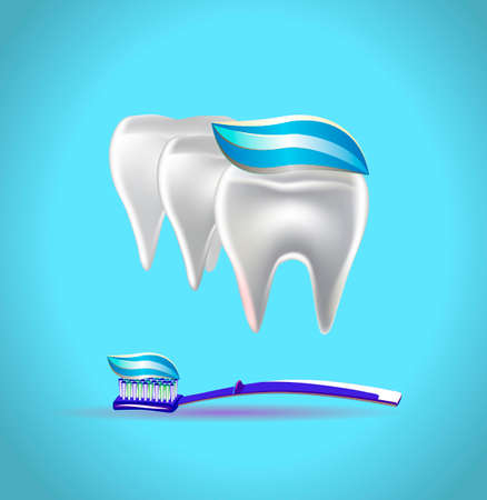 Vector illustration of banner toothpaste Vettoriali