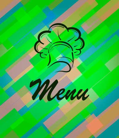 Vector banner for restaurant and cafe, bar. Cook with a cap. Ilustração