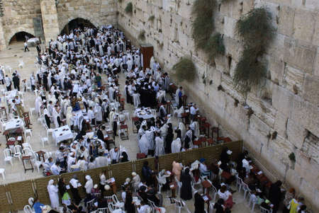 hasid: Western Wall, Jerusalem, Israel Editorial