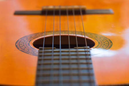 melody: Acoustic guitar fretboard strings melody music song