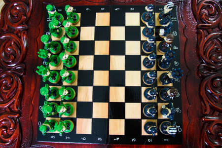 chess in the form of military against prisoners on the board.