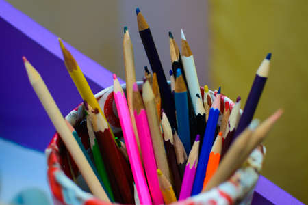 Colors pencils bunched together