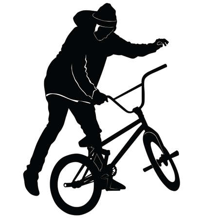 bmx: Teenager riding a BMX bicycle