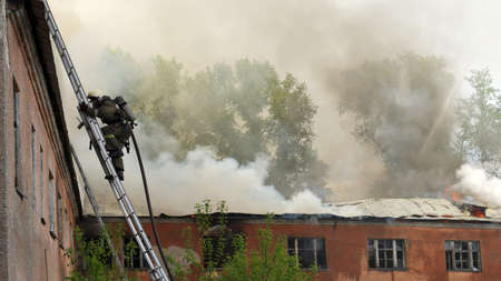 Fire on the territory of a military unit in the city of Novosibirsk