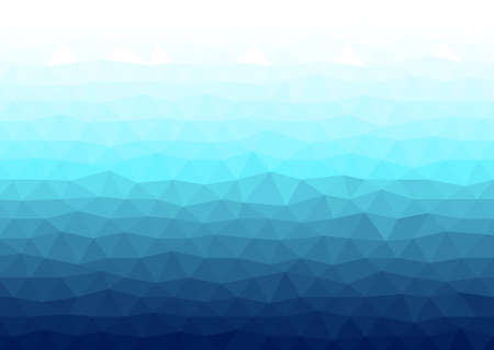 Abstract blue background with a polygonal pattern - vector illustration