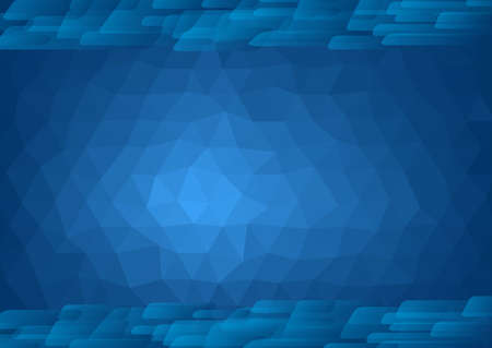 Abstract blue backdrop with a polygonal pattern - illustration Çizim