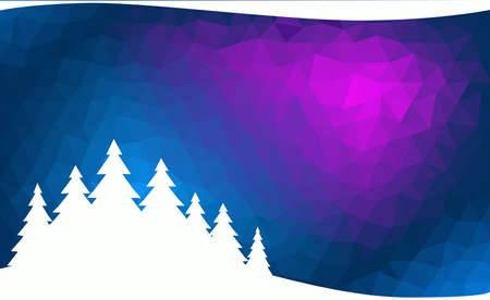 Abstract winter background with a contour fir forest - Christmas or New Year