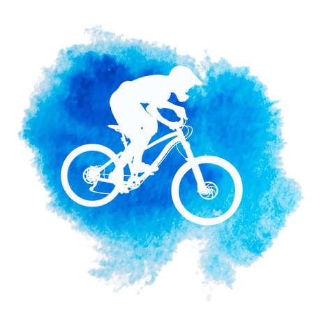 Silhouette of a biker icon