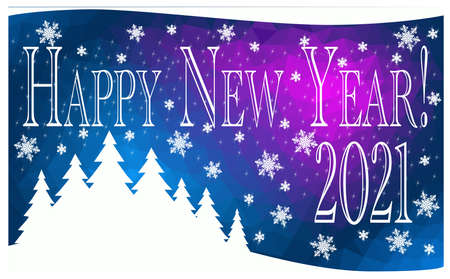Abstract Happy New Year greeting card - vector illustration