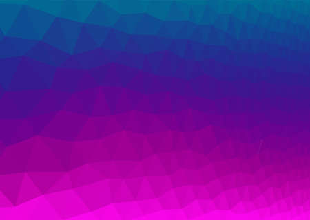 Abstract polygonal background in magenta and blue colors - vector
