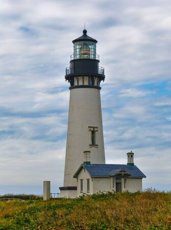 The Yaquina Head Lighthouse, in Newport Oregon