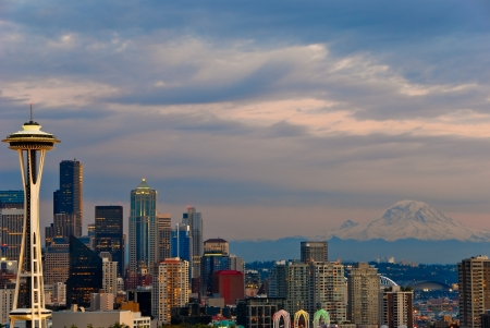 The Seattle skyline Stock Photo