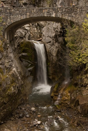 Located in Mount Rainier National Park Christine Falls is just a short walk from the highway on the way to Paradise.