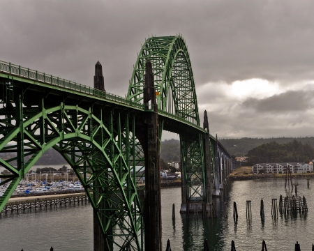 Located in Newport, Oregon, is one the most recognizable bridges on U S route 101 Editorial