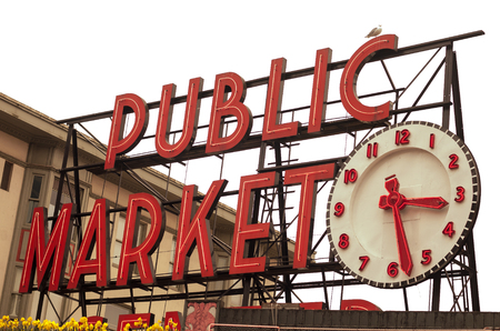 The world famous Pike Stret Market in Seattle, Washington
