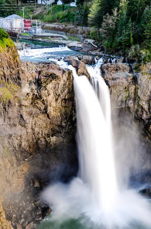Snoqualmie Falls in Snoqualmie, Washington.