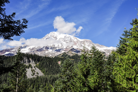 Mount Rainier in late september in Mount Rainier National Park