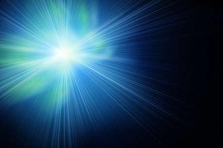 explodindo: fantástico brilhando no espaço. Matiz azul e verde. Banco de Imagens