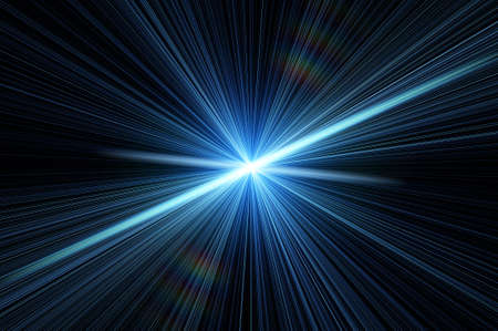 emit: blue flash in a space Stock Photo