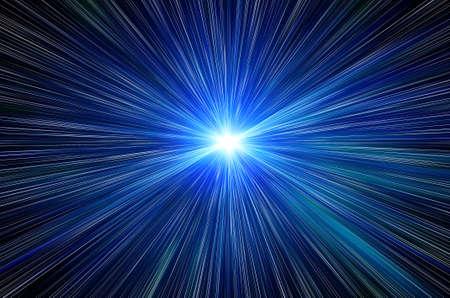 blue flash in a space Standard-Bild