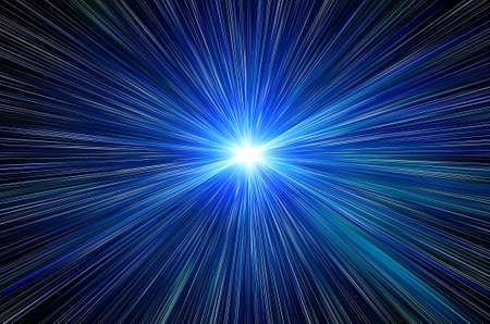 blue flash in a space Stock Photo