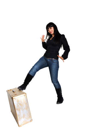 woman fall bag Stock Photo - 8550345