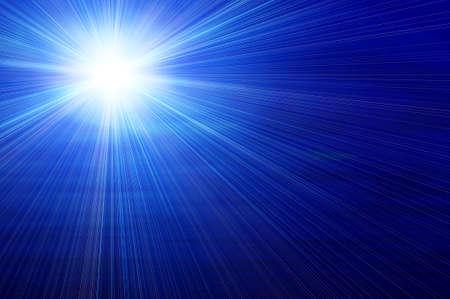青い背景に白い星
