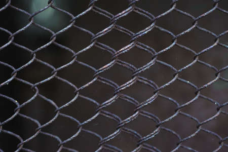 abstract metal grid. Raw pattern photo