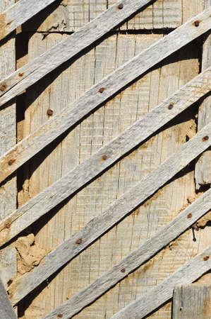 sheathing: abstract wooden plank in a row Stock Photo