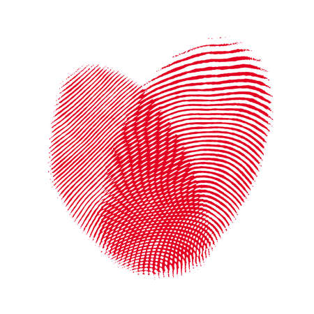 heart from two fingerprint. Concept love backgrounds photo