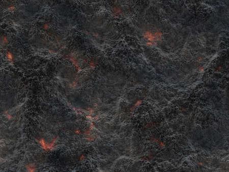 eruption volcano. solidified lava texture Standard-Bild
