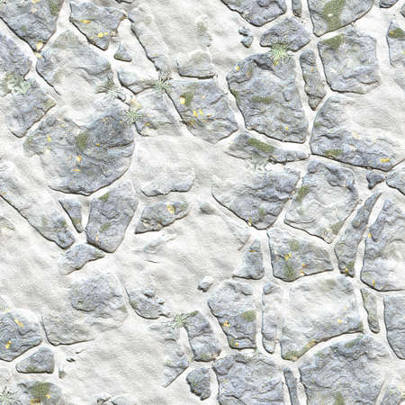 cleft: winter landscape design from stones in grass. wallpapers pattern