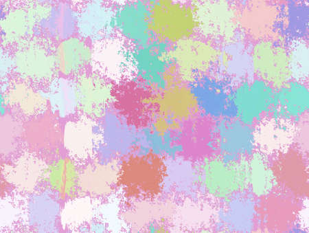 Abstract Spot Painting Backgrounds. Multicolored Pattern photo
