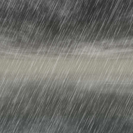 rainfall: rain storm backgrounds in cloudy weather Stock Photo