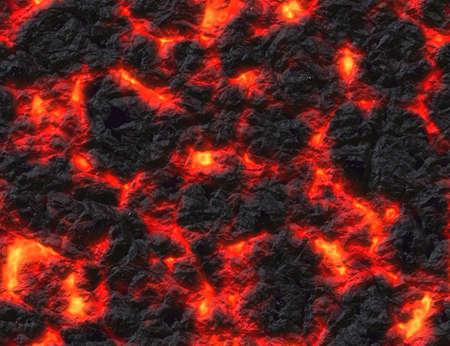 charred: eruption volcano. solidified lava texture Stock Photo