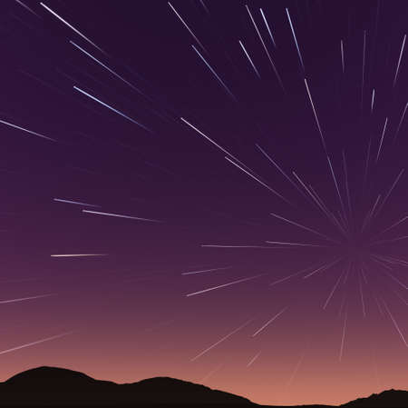 time lapse: Beautiful star trail image during at night