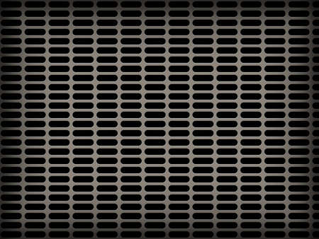 metal grid background with many holed photo