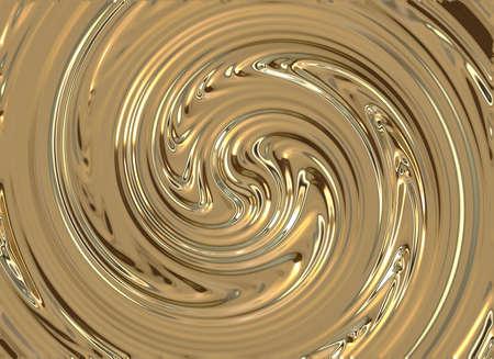 輝く金属の渦