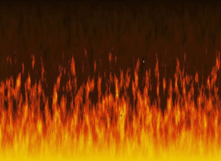 conflagration: red flame of fire with smoke Stock Photo