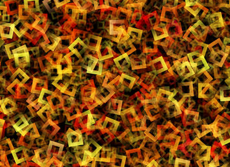 chaotic: Multicolored square frames in Chaotic Arrangement Stock Photo