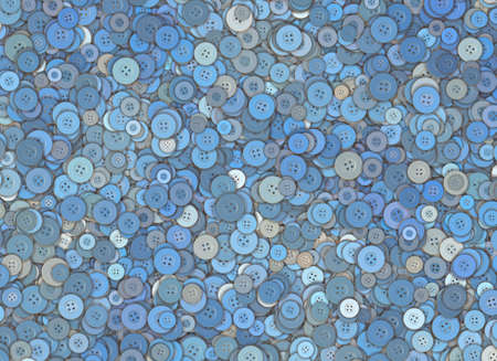 chaotical: many blue circle clothes button
