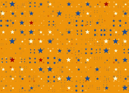 chaotical: many multicolored stars holiday symbol Stock Photo